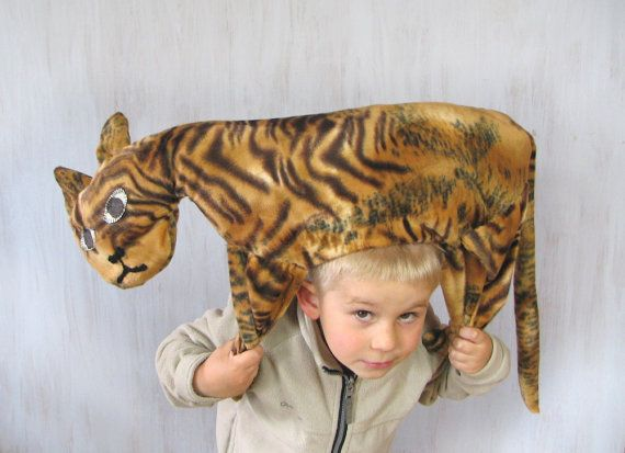 Tiger Pillow Kids Room Decor Country House Summer by Florfanka