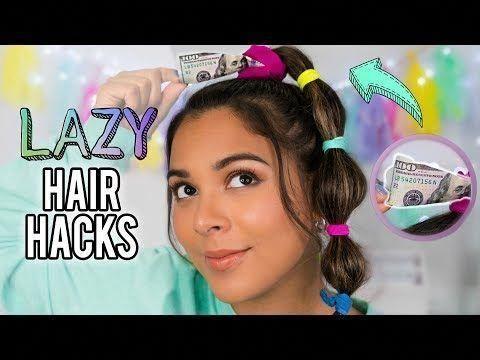 Cheveux bricolés Hacks Chaque personne paresseuse devrait savoir! Coiffures rapides et faciles pour l'école! - YouTube #QuickHairstyleTutorials #Easyhairstyles - Coiffure L ...