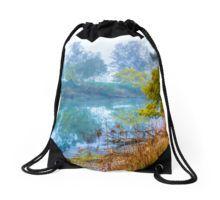 Foggy Start to the Day at Lake Eildon Drawstring Bag