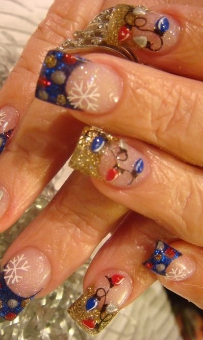 176 best christmas nails images on pinterest nail art christmas inspired nail art designs for 2011 prinsesfo Gallery