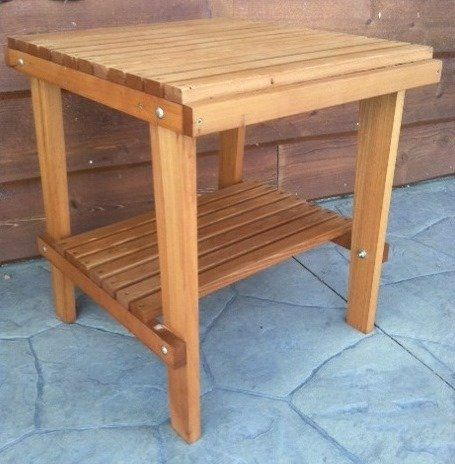 "Our Western Red Cedar Side Table compliments our gliders & Adirondack chairs. This traditional natural wood side table is 23"" tall x 21"" wide x 23"" deep – a very useful, yet compact table size. Our table comes with a lower shelf for stability, plus creates a nice storage... more details available at https://perfect-gifts.bestselleroutlets.com/gifts-for-holidays/patio-lawn-garden/product-review-for-cedar-side-table-with-shelf-stained-finish-amish-craft"