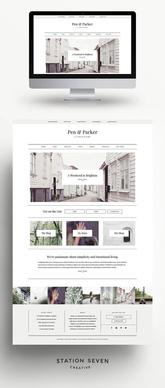 Parker - A Lifestyle Blog Theme by Station Seven on creativework247