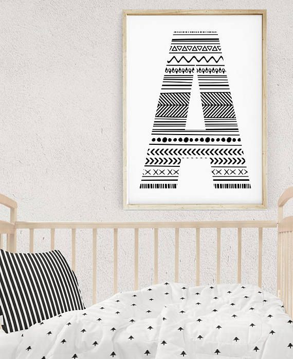 Letter Wall Art Baby Name Letters Wall Initials Decor