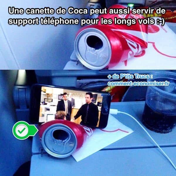 Utilisez une canette de Coca comme support iPhone