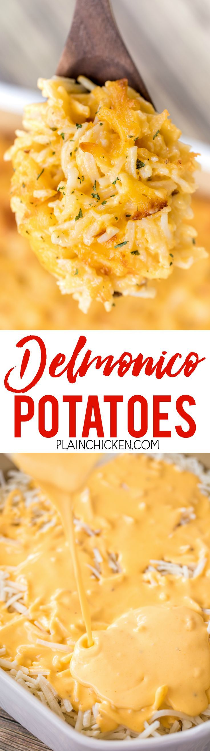 Delmonico Potatoes - the most AMAZING potatoes EVER!!! We have made these 3 times in the last month. They are simply the BEST!!! They are also super easy to make. You can make them ahead of time and refrigerate or freeze for later. Frozen hash brown potat