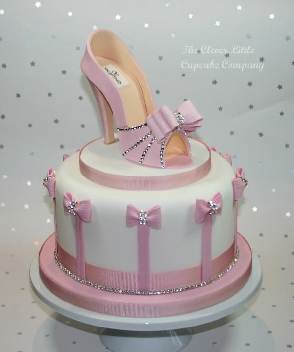 Pink Shoe Celebration Cake by CleverLittleCupcake on Cake Central - via http://bit.ly/epinner