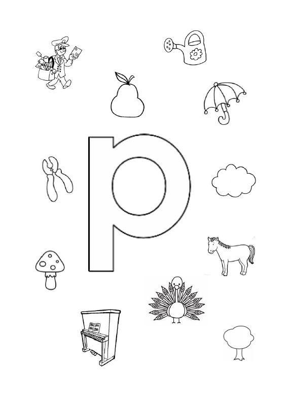 De letter 'P'
