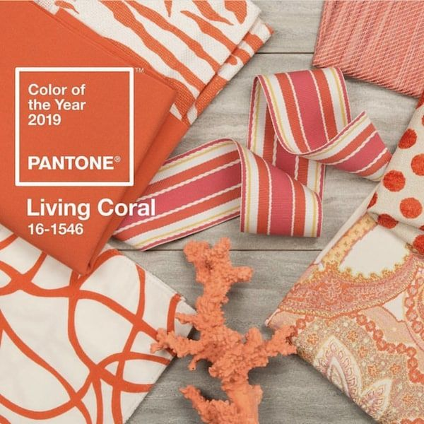 Coral Home Decor, Color Of The