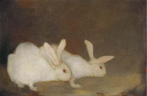 ♞ Artful Animals ♞ bird, dog, cat, fish, bunny and animal paintings - Jan Mankes