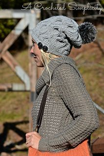 Crochet Pattern: Hourglass Cabled Beanie & Slouch by A Crocheted Simplicity