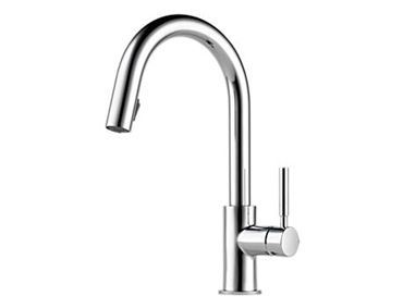 Modern Kitchen Faucet: Solna Single Handle Pull-Down Kitchen Faucet