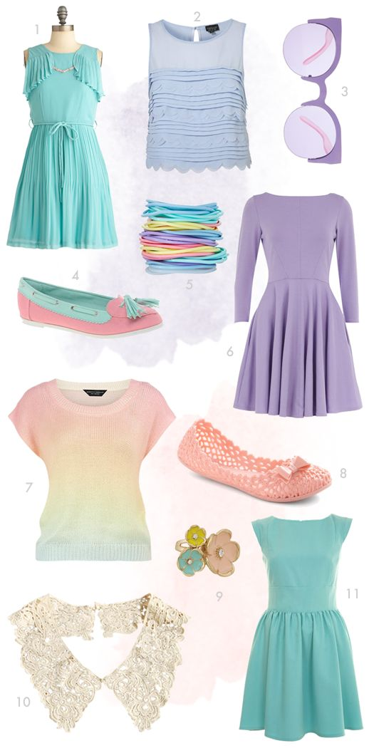 23 Best Vintage And Pastel Outfits Images On Pinterest | Candy Colors Pastel Colors And Pastel ...