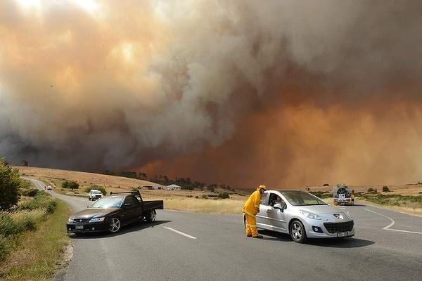 Fires as seen from Chepstowe, near ballarat in NSW.