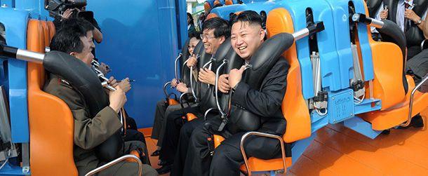 Kim Jong-un alle giostre