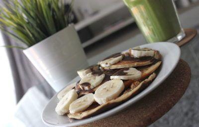 pancakes de proteina y platano