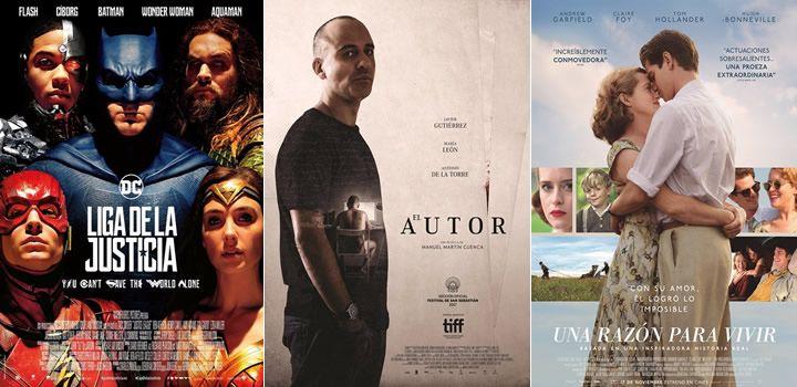 Liga de la Justicia, El autor o Una razón para vivir, estrenos destacados en la cartelera española
