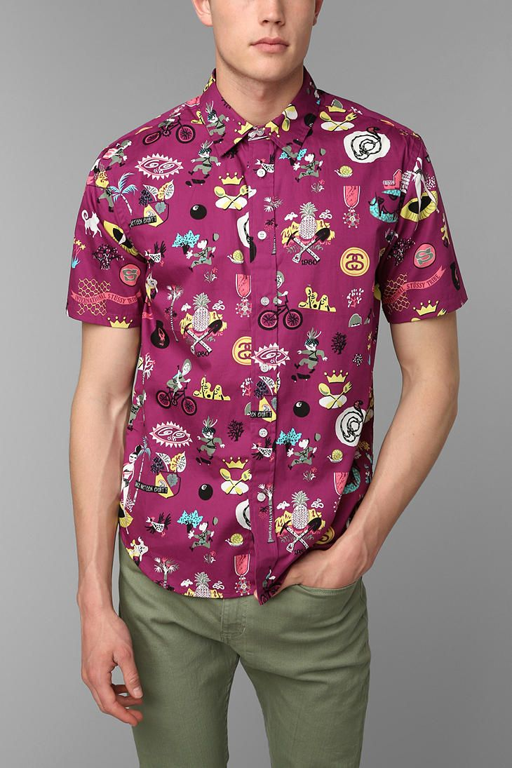 Stussy Story Time Button Down Shirt Urbanoutfitters
