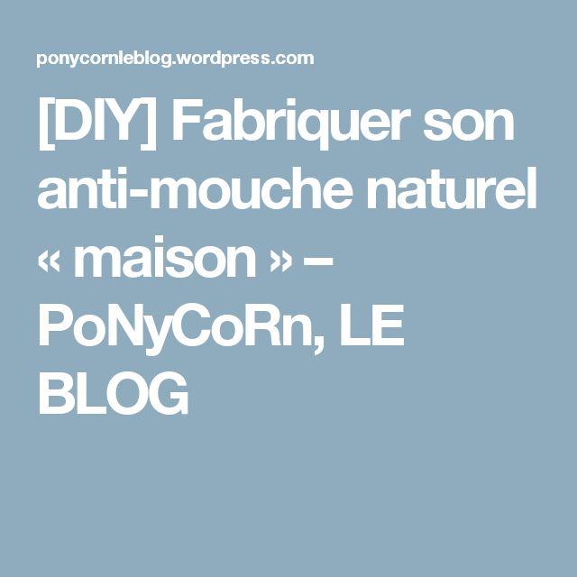 [DIY] Fabriquer son anti-mouche naturel «maison» – PoNyCoRn, LE BLOG