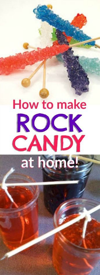Learn how to make your own rock candy at home. This is such a fun science…
