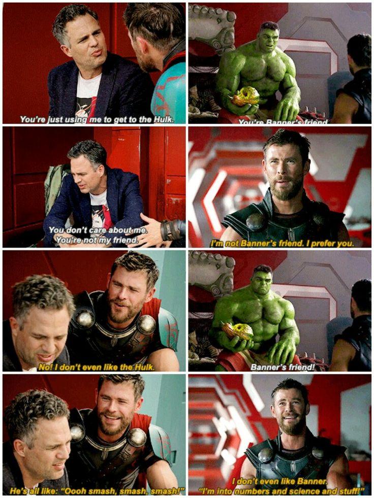 Thor: Ragnarok (2017) dir. Taika Waititi #bruce x thor