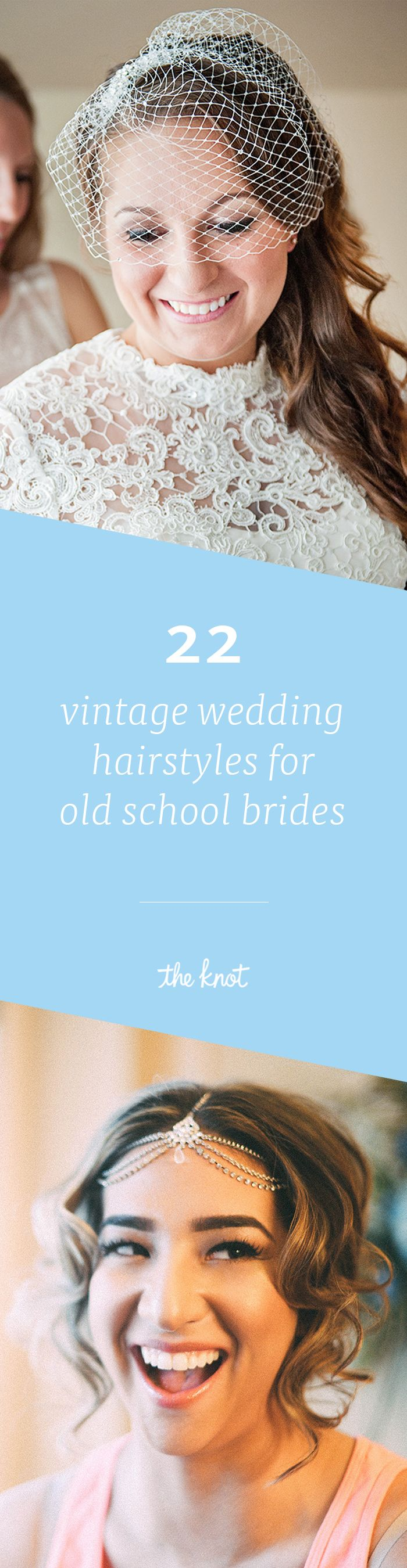 For long, medium length or short hair—we have the perfect vintage wedding hairstyle for you!