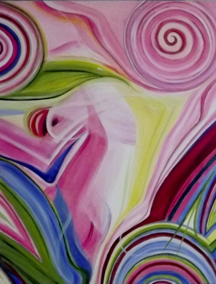 Aquilegia Abstract  - see www.rippleart.co.nz