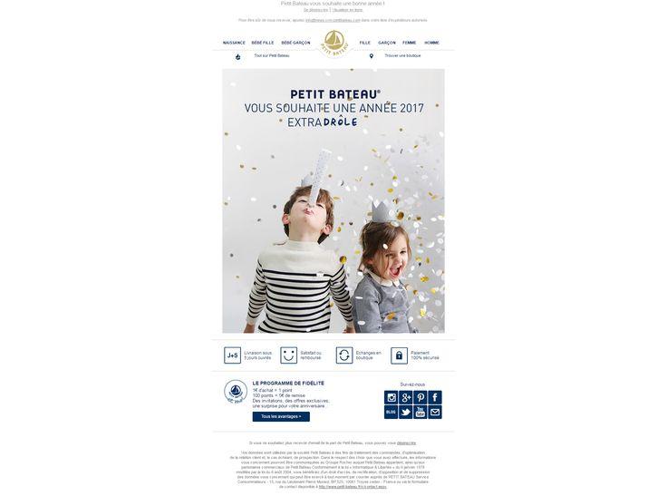 Objet : 3, 2, 1… Bonne année SOPHIE !    Accroche intégrée dans le visuel + animation de l'accroche et des confettis par un GIF (extra-vagante, -drôle,  -ordinaire, - douce ...)  http://tr.news.crm-petitbateau.com/nl/jsp/m.jsp?c=46939b75dd1532364b