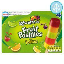 Rowntrees Fruit Pastilles Lollies 4 X 65Ml