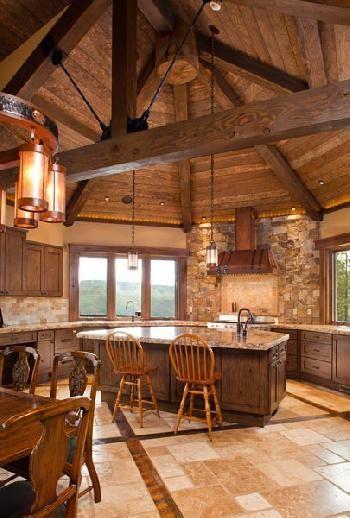 Best Log Cabin Kitchens Ideas On Pinterest Log Home Rustic