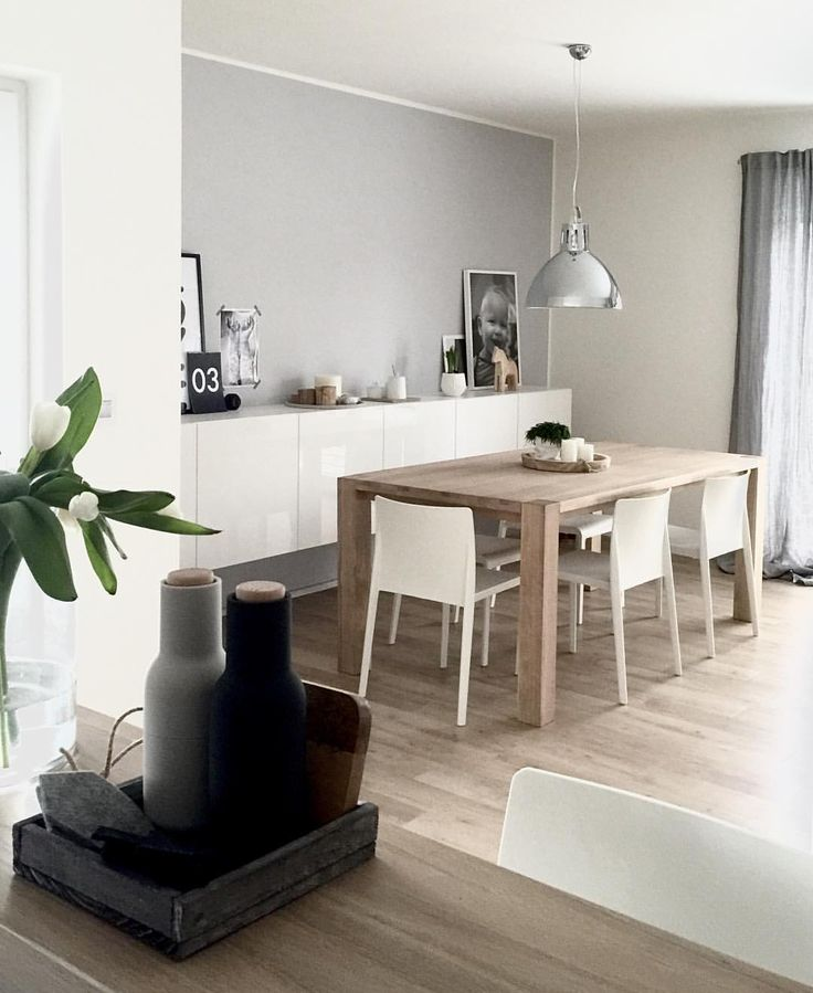 View from our kitchen◾️◽️     #interiorstyling #interior4all #inspiremeinterior #interiordesign #interior123 #bonytt #bobedre #boligpluss #boligrøm #vakrehjemodinterior #designinterior #ssevjen #nordicminimalism #nordicinspiration #norsuinteriors #scandinavianhomes #scandinaviandesign #nordicliving #scandinavianstyle #inspoformilla #insposecret #interiorwife #hltips #hus10a #mykindoflikeinspo #whitehome #industriallamp #dinningroom