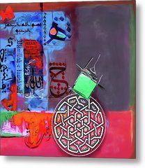 Calligraphy 152 3 Metal Print by Mawra Tahreem