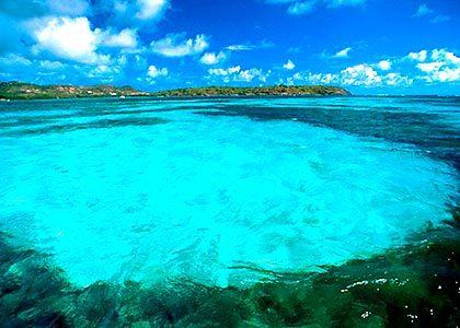 Lagon bleu azur de Martinique. Bahamas  #croisierenet.com #paysage #caraïbes #voyage #croisièrecaraïbes