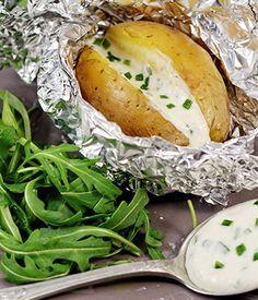 Pommes de terre au barbecue et au camembert Cœur de Lion