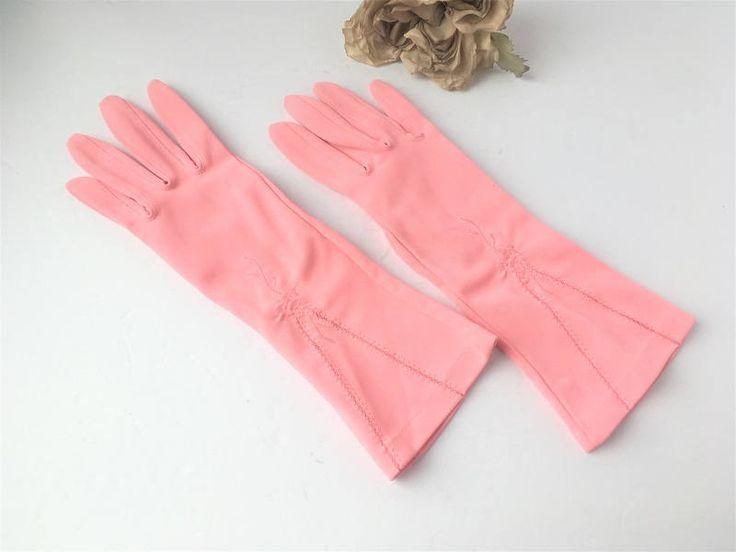 Vintage Pink Gloves / Vintage Gloves / Vintage Fashion / Vintage Accessories / Pink Gloves / Pink Accessories / Pink Fashion / Dinner Glove by AandSVintageShop on Etsy