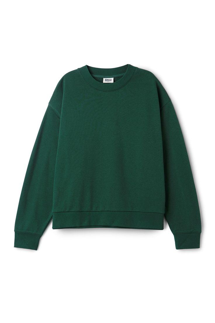 Weekday image 21 of Huge Cropped Sweatshirt in Green Bluish Dark
