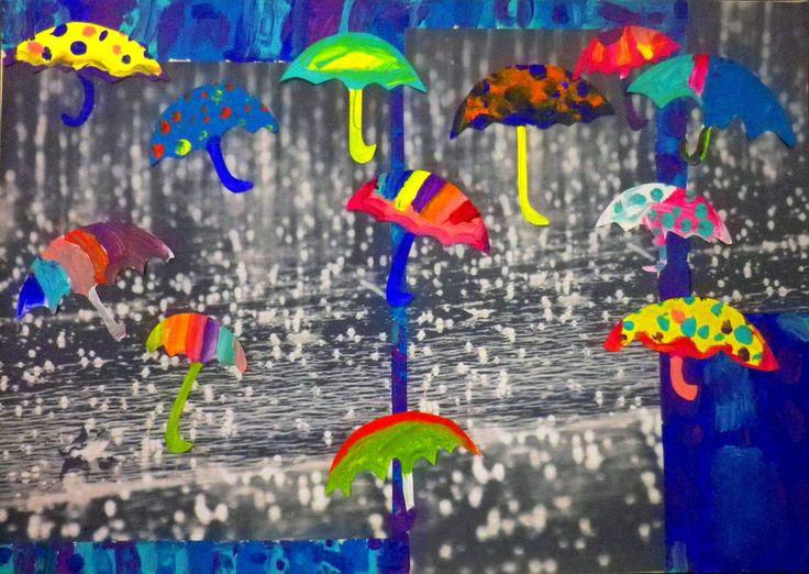 Όταν βρέχει… θα πάρουμε τις πολύχρωμες ομπρέλες και θα δώσουμε χρώμα στο γκρίζο γιατί πολύ απλά μαθαίνουμε να σκεφτόμαστε θετικά!!! Ο καθένας μας κρατάει καθημερινά το πινέλο του και ζωγραφίζ…