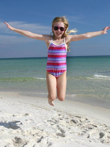 Kid's Colorful One-Piece Swimsuit