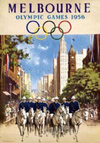 Melbourne Olympic Games, 1956. Australia. Vintage Travel poster by James Northfield