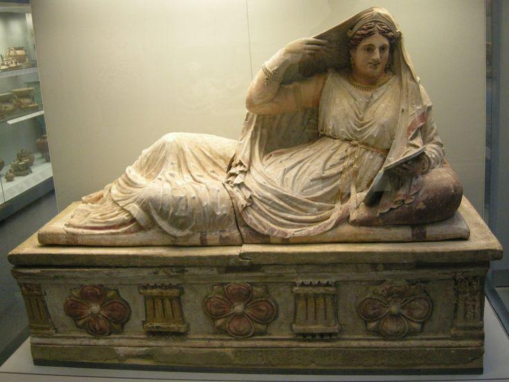 Sarcofago etrusco - from Chiusi, Archaeological Museum Florence