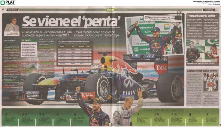 FOX Sports: Especial sobre Fórmula 1 en el diario Depor de Perú (28/11/13)