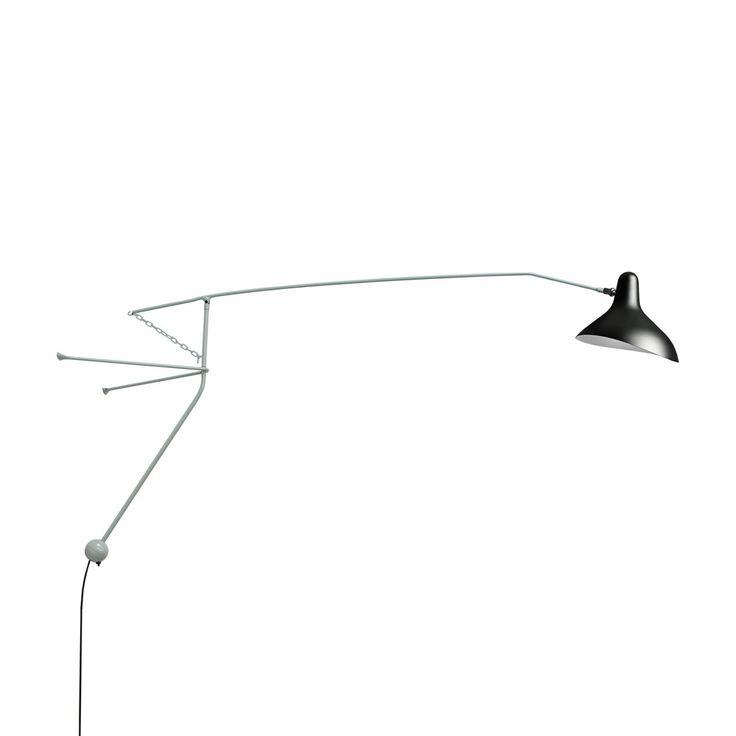 Mantis S2 væglampe fra Bernard Schottlander grøn sort