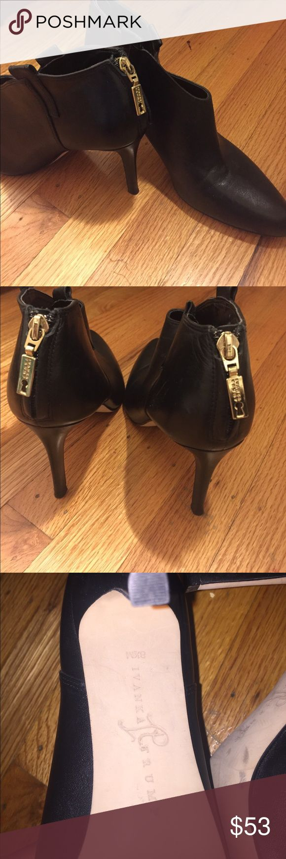 Ivanka Trump Leather Ankle Heel Boots Perfect shoes for Fall ! In good condition , barely worn. Make an offer ! Ivanka Trump Shoes Ankle Boots & Booties