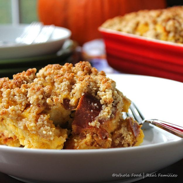 Maple Pumpkin Bread Pudding | Community Post: Holiday Veg Dishes Even a Carnivore Will Love