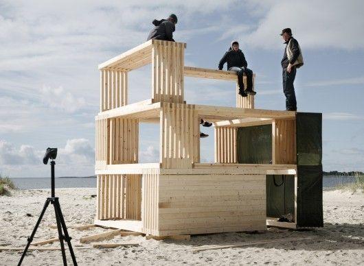 cabane auto-construction-Nomadic Shelter par SALT Siida Workshop