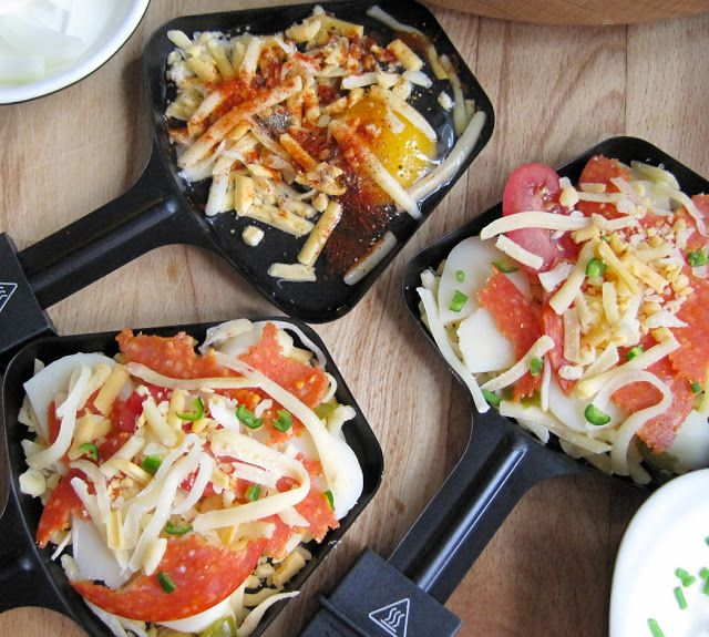 Raclette Dinner Party - Recipe Ideas | A Glug of Oil  get a raclette at fondue-me.com