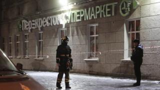 St Petersburg supermarket blast injures at least 10 shoppers