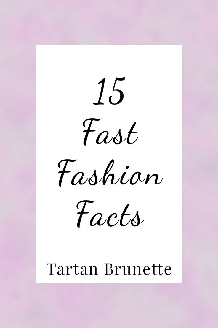 15 mind blowing fast fashion facts. Click through to see 15 facts on fast…
