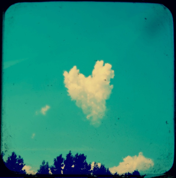 Kickstart My Heart Art Print: Digital Photo, Heart Print, Cloud