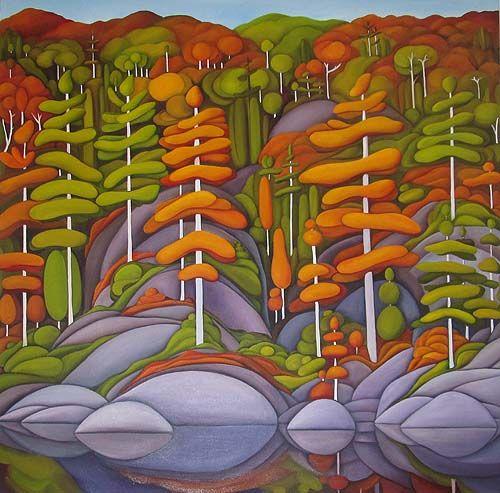 Deb Gibson, Canadian Artist, Algonquin Autumn, oil on canvas