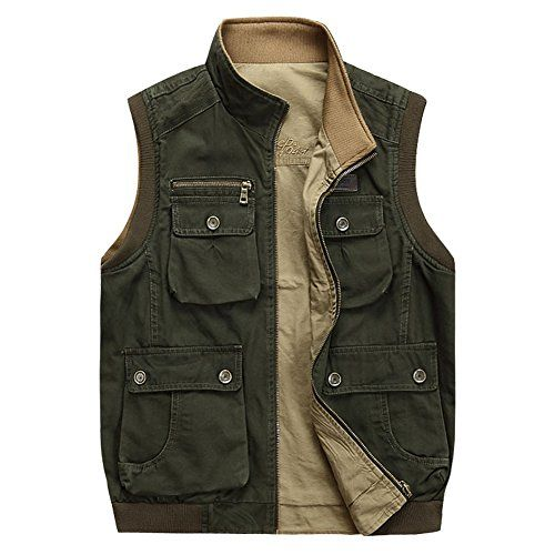 OH! utility vests! let's go fishing, hiking and... #men #sports #vests #outdoor #jackets URBANFIND Men's Hiking Sport Pockets Vest US Size L Army Green URBANFIND http://www.amazon.com/dp/B00LGKMLQO/ref=cm_sw_r_pi_dp_4UJNvb1MWVVZA